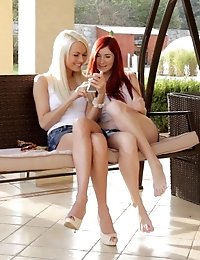 Horny Lesbians Kattie Gold And Lena Love Go To Town Licking And Finger Fucking Each Others Juicy Lan