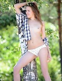 Sweet Beauty In Wilderness Compensates The Wild Environments Rigidity With Her Natural Purity. Sexy