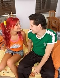 Redhead Babe Gets Her Mouthful Of Burning Cum