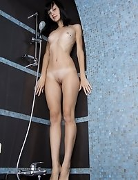 Posing Naked In The Bathroom While Enjoying Warm Water Is Perhaps The Best Way To Show How Sexy A Sl