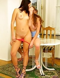 Two Gorgeous Lesbian Teens In Full Action