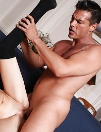 Hot tiny athlete gets banged hard by her tutor