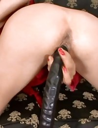 Nasty whore gets her butthole drilled really rough