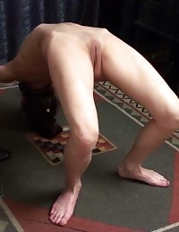 Masturbation after collared yoga training