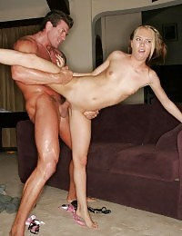 Dirty blondie Jeanie Marie hooks up with a fuckbuddy and gets her cunt pounded with a big cock
