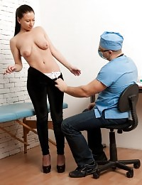 Humiliating nude breast and blood pressure tests