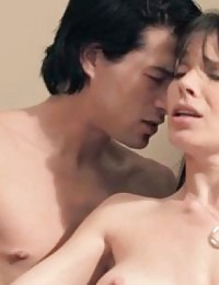 Two fuck buddys climax in the bathroom