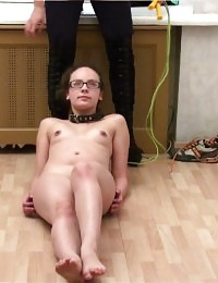 Special sport masturbation after collared training