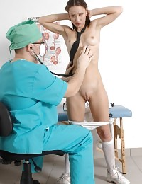 Cutie undressed for a nasty scrupulous checkup