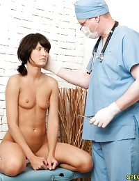 Sadistic gynecologist enjoys her suffering