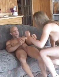 Sexy lady Kyla King rides a cock with her cooter while giving a blowjob in this gangbang party