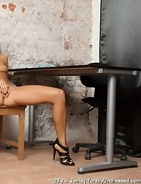 Nude interlocution with dildo fuck tests