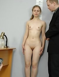 Deep throating and anal stuff insertion at an interview