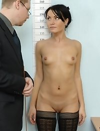 HR doms strip a candidate to the black stockings