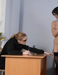 In the full clothing control of staff perverts