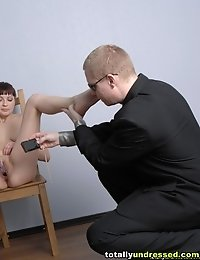 Interview with photo shoot and gyno examination