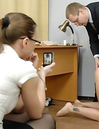 Rectal and vaginal job interview fetish sex tests