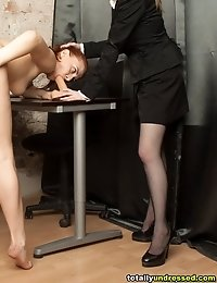 Too respectable candidate undressed and toy-fucked
