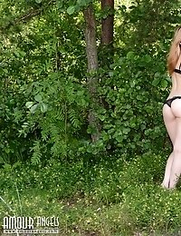 This Teen Just Fell In Love With Nature As While She Stripped Her Clothes To Feel Every Little Sensa